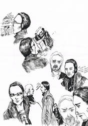Deus Ex doodles during school by Silfarim