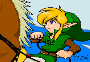 Young-Link_and_Epona_Zelda_OOS by FJLink