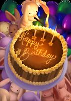 Original - Bunny Birthday Card by lin-k0