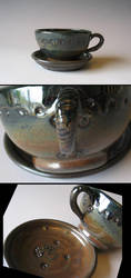 Steam and Oil Tea Set by Justyse