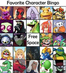 Favorite Character Bingo by IgusZilla