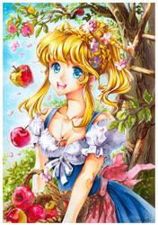 apple picking season by Naschi