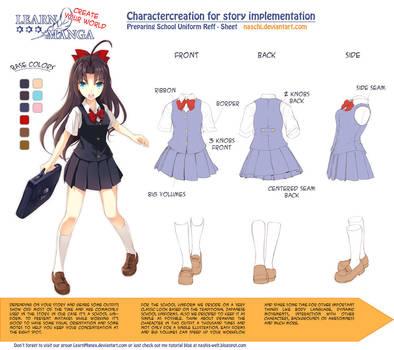 Learn Manga: Create your World - CC school uniform by Naschi