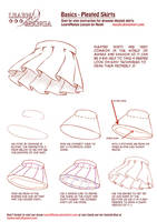 Learn Manga Basics: Pleated Skirts by Naschi
