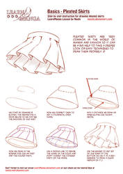 Learn Manga Basics: Pleated Skirts by Naschi