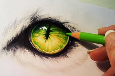 Creature eye by Naschi