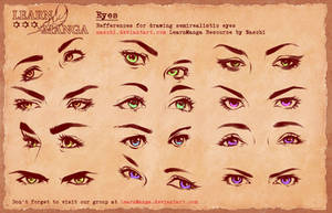 Learn Manga Basics Semi Eyes 4 Refference by Naschi