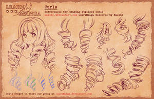 Learn Manga Basics Curls 4 Refference by Naschi