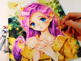 My little Fluttershy by Naschi