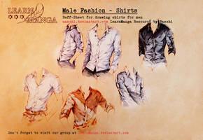 Learn Manga Male Fashion - Shirts by Naschi