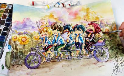 Tandem Teamwork by Naschi