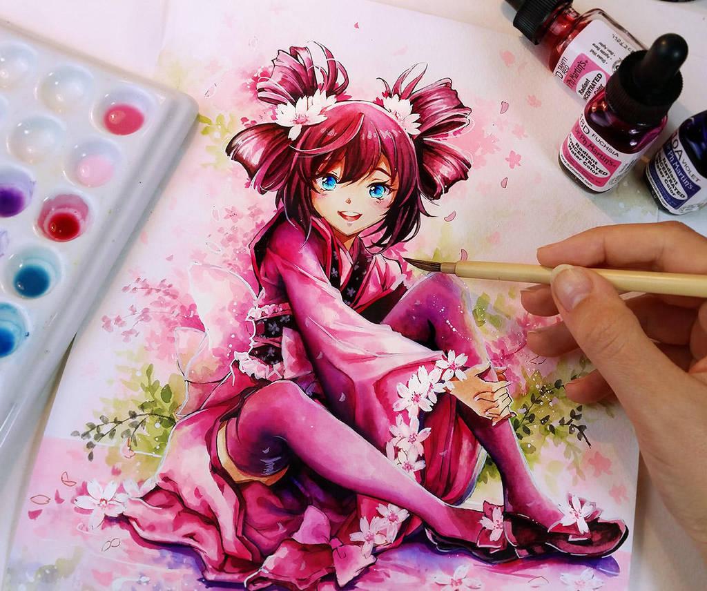 Sakura by Naschi