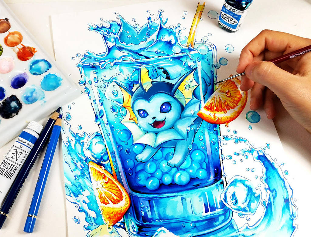 Vaporeon Water crush by Naschi