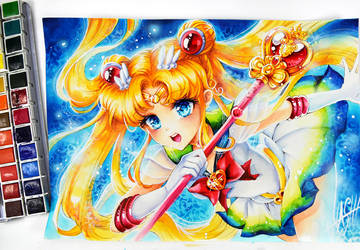 Usagi Super Sailor Moon by Naschi