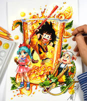 Dragon Ball Cocktail Color by Naschi