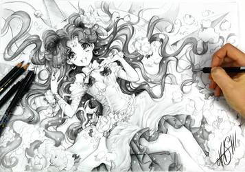 Luna and Stars by Naschi