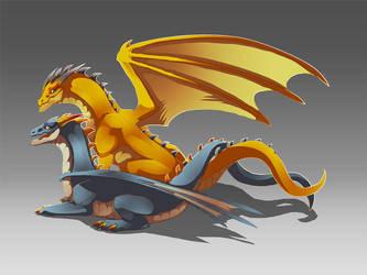 Twin Dragon by magmi