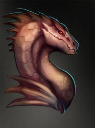 Brown Dragon Head by magmi