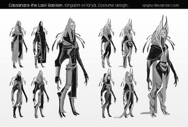 School project_Kingdom of Kirya_Costume design_ by Spighy
