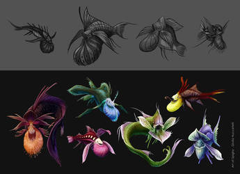 Creatures from plants 01 by Spighy