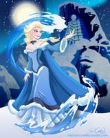 Waterbender Elsa by racookie3