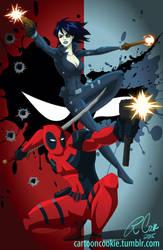 Deadpool Domino by racookie3