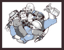 TF2: WE MAKE GOOD TEAM by alciha