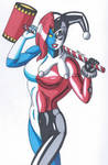 Mystique-Change of Face- Harley Quinn by RobertMacQuarrie1