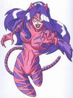 OCD- The Cheshire Cat, the Feline Superheroine by RobertMacQuarrie1