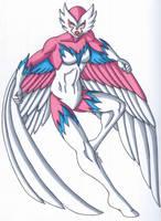 OCD- Sparrowhawk, the Avaian Superheroine by RobertMacQuarrie1