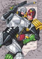Robocop vs Judge Dredd by RobertMacQuarrie1