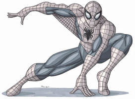 Spider-Man- Greyscale by RobertMacQuarrie1
