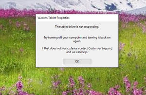 Forum: my wacom tablet driver is not responding and i don\u0027t know