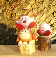 Wooden Kirby and Waddle dee by Rachet777