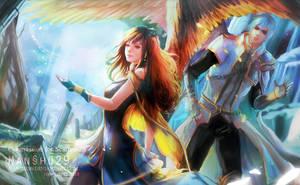 ::Commission:: Alethea and Eizenvaltz by nanshu29