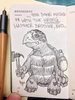 Hammer Badass by Apoklepz