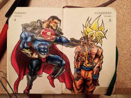 Superman Prime vs Goku by Apoklepz