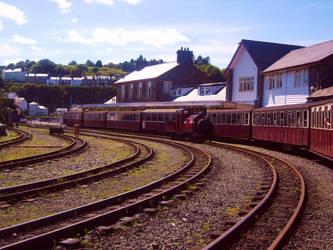 Sitti'n in a railway Station by kingofthefield