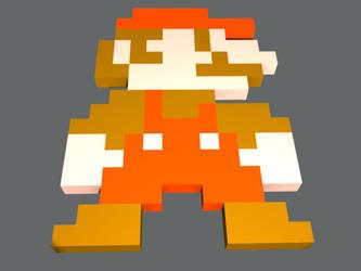 Mario 3D Pixel Art by aragorn3000