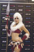 Snow Bunny Nidalee cosplay - League of Legends 01 by SuzySilence