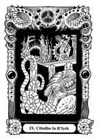 Atu IX: Cthulhu in R'lyeh by Tillinghast23