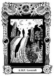 Atu 0: H.P. Lovecraft by Tillinghast23