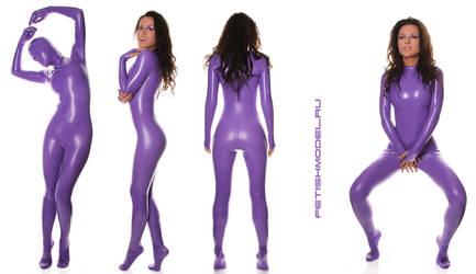 Purple Catsuit..... by agnadeviphotographer