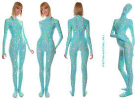 Pyjamas Style Spandex Catsuit. UV reactive. by agnadeviphotographer