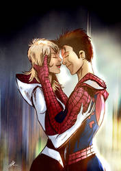gwen and peter by gaberoseart