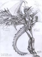 Silver Dragon and Fiore by JereduLevenin