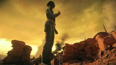Giantess Leia (Star Wars Battlefront 2) by Bambusrinde