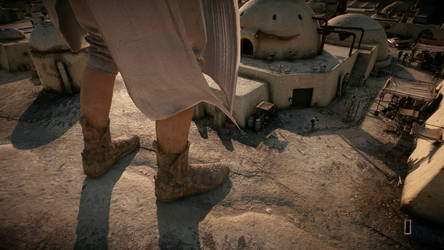 Giantess Rey Boots (Star Wars Battlefront 2) by Bambusrinde