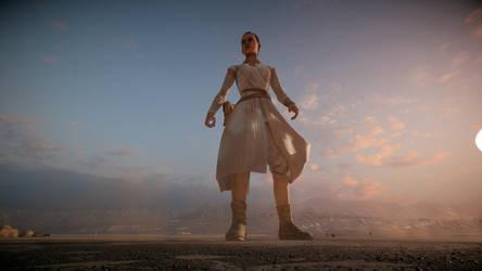 Giantess Rey (Star Wars Battlefront 2) by Bambusrinde