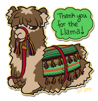 Just a little Llama by zarry